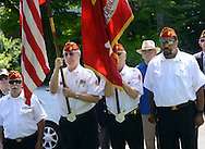 The color guard leads the ceremonies during the Maplewood section's 70th anniversary celebration Saturday, June 18, 2016 in Doylestown, Pennsylvania.   (Photo by William Thomas Cain)
