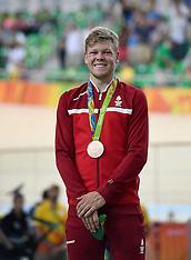 20160815 Rio 2016 Olympics - Banecykling Omnium - Lasse Norman bronze