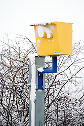 Speed Camera  A6135 Ecclesfield Rd, Chapeltown Sheffield,  during the most widespread Snows to hit Britain for 20 years.1st December 2010.Images © Paul David Drabble