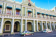 The Veracruz State Governors Offices on the Plaza Lerdo at the historic center of Xalapa, Veracruz, Mexico.