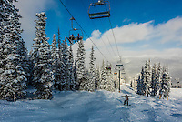Snowboarding, Keystone Resort, Colorado USA.