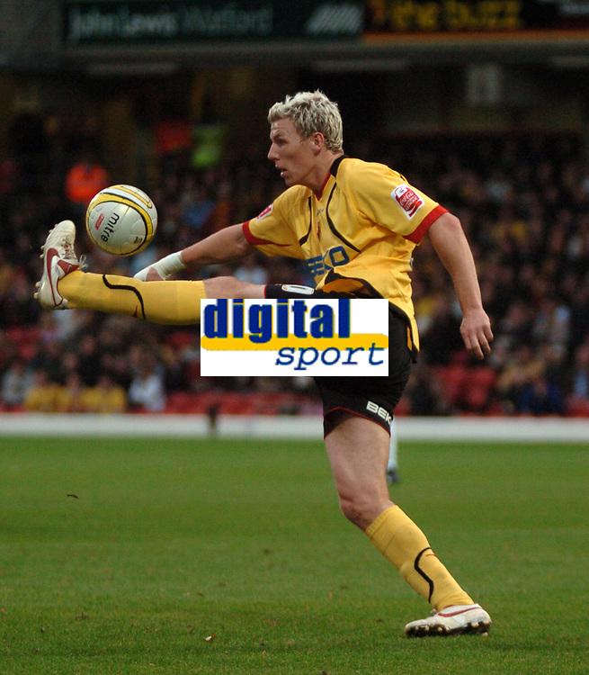 Photo: Tony Oudot/Sportsbeat Images.<br /> Watford v Colchester United. Coca Cola Championship. 10/11/2007.<br /> Darius Hendersen of Watford juggles the ball