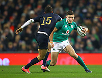 Rugby Union - 2017 Guinness Series (Autumn Internationals) - Ireland vs. Argentina<br /> <br /> Ireland's Jacob Stockdale in action against Argentina's Joaquin Tuculet, at the Aviva Stadium.<br /> <br /> COLORSPORT/KEN SUTTON