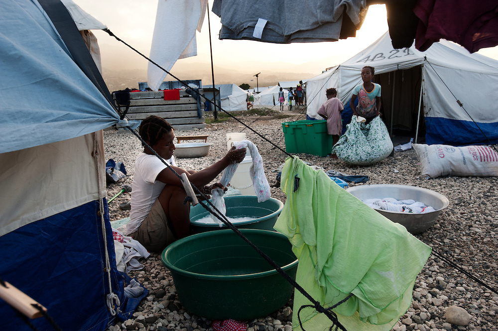 Tabare Issa, a tent city in Port au Prince.