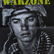Fold out poster from Noorderlicht WARZONE, book and exhibition.