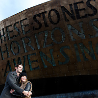 Bart and Laura - Cardiff Bay pre wedding photoshoot