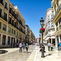 La calle Marqués de Larios, también conocida como Calle Larios, es una calle decimonónica de la ciudad española de Málaga. El nombre de la vía es en honor a Manuel Domingo Larios y Larios, II Marqués de Larios. Málaga, Andalucia. España. The Marqués de Larios street, also known as Calle Larios, is a nineteenth-century street Spanish city of Malaga. The street name is in honor of Manuel Domingo Larios and Larios, II Marquis de Larios. Malaga, Andalucia. Spain