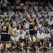 Marina Mabrey, Notre Dame, shoots for two during the Notre Dame Vs UConn Women's Basketball game at Grampel Pavilion, Storrs, Connecticut, USA. 5th December 2015. Photo Tim Clayton