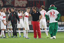 25.10.2013, Mercedes Benz Arena, Stuttgart, GEr, 1. FBL, VfB Stuttgart vs 1.FC Nuernberg, Fussball, 1.Bundesliga, 25.10.2013, 10. Runde, im Bild Links Alexandru Maxim ( VfB Stuttgart ) Rechts Trainer Thomas Schneider ( VfB Stuttgart ) nach dem 1:1, Spielende // during the German Bundesliga 10th round match between VfB Stuttgart and 1. FC Nuernberg at the Mercedes Benz Arena in Stuttgart, Germany on 2013/10/26. EXPA Pictures © 2013, PhotoCredit: EXPA/ Eibner-Pressefoto/ Langer<br /> <br /> *****ATTENTION - OUT of GER*****