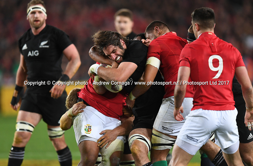 Sam Whitelock.<br /> New Zealand All Blacks v British and Irish Lions. 1st Rugby union test match. Eden Park, Auckland, New Zealand, Saturday 24 June 2017. &copy; Copyright photo: Andrew Cornaga / www.Photosport.nz