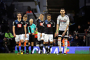 Derby County attacker Tom Ince (10) celebrating scoring opening goal 0-1 during the EFL Sky Bet Championship match between Fulham and Derby County at Craven Cottage, London, England on 17 December 2016. Photo by Matthew Redman.