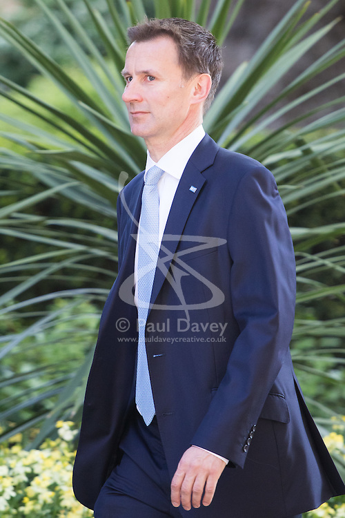 Downing Street, London, May 17th 2016. Health Secretary Jeremy Hunt arrives at the weekly cabinet meeting in Downing Street.