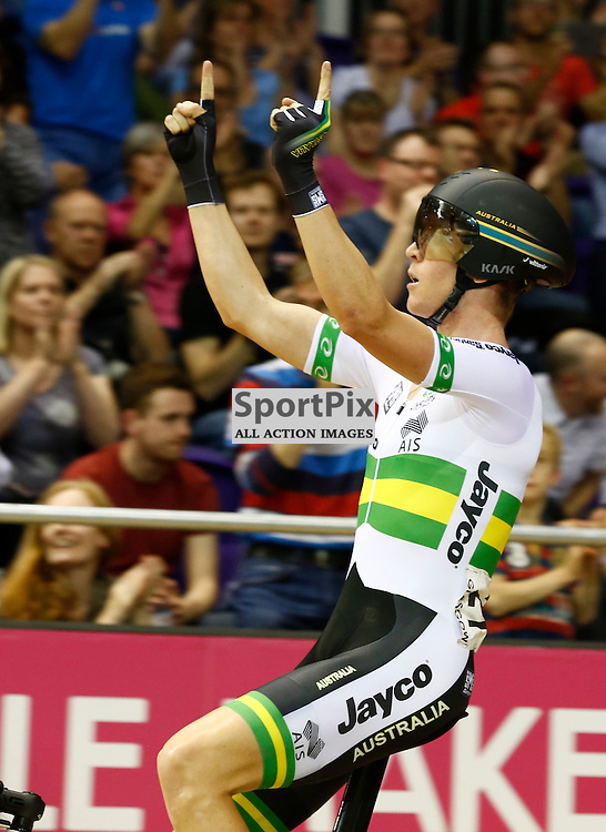 UCI Track Cycling World Cup Glasgow 4th - 6th November 2016. Cameron Meyer gold medal winner in the Men's point race .....(c) STEPHEN LAWSON | SportPix.org.uk