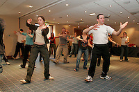 Tai Chi session at NUT North West Region Young Teachers Weekend..© Martin Jenkinson, tel 0114 258 6808 mobile 07831 189363 email martin@pressphotos.co.uk. Copyright Designs & Patents Act 1988, moral rights asserted credit required. No part of this photo to be stored, reproduced, manipulated or transmitted to third parties by any means without prior written permission