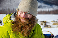 Trent Herbst was the first musher into the Iditarod checkpoint.