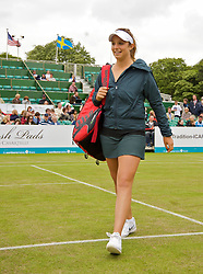 LIVERPOOL, ENGLAND - Friday, June 19, 2009: Tamaryn Hendler (BEL) during Day Three of the Tradition ICAP Liverpool International Tennis Tournament 2009 at Calderstones Park. (Pic by David Rawcliffe/Propaganda)