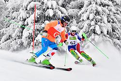 GALLAGHER Kelly Guide: SMITH Gary, B3, GBR, Women's Slalom at the WPAS_2019 Alpine Skiing World Championships, Kranjska Gora, Slovenia