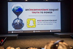 July 18, 2017 - New York City, New York, United States - On July 19, 2017, the Producers Guild of America held a sneak preview screening of ''An Inconvenient Seque.l: Truth to Power,'' a film directed by Bonni Cohen and Jon Shenk about former United States Vice President Al Gore's continuing mission to battle Climate Change. The filmmakers and Mr. Gore held a post-screening Q&A.  The film opens nationwide August 4, 2017  (Credit Image: © Michael Nigro/Pacific Press via ZUMA Wire)