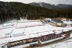 View on Biathlon center Pokljuka before the Pursuit Men 12,5 km at day 8 of IBU Biathlon World Cup 2018/19 Pokljuka, on December 9, 2018 in Rudno polje, Pokljuka, Pokljuka, Slovenia. Photo by Urban Urbanc / Sportida