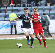 Dundee's Thomas Konrad and Aberdeen&rsquo;s Niall McGinn - Dundee v Aberdeen, SPFL Premiership at Dens Park<br /> <br />  - &copy; David Young - www.davidyoungphoto.co.uk - email: davidyoungphoto@gmail.com