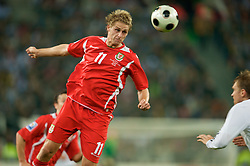 MONCHENGLADBACH, GERMANY - Wednesday, October 15, 2008: Wales' David Edwards in action against Germany during the 2010 FIFA World Cup South Africa Qualifying Group 4 match at the Borussia-Park Stadium. (Photo by David Rawcliffe/Propaganda)