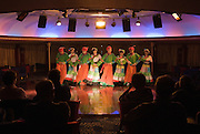 Dancers performing on Victoria Line Cruise Ship for Western tourists, Yangtze River, China