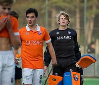BLOEMENDAAL  -  keeper Flip Wijsman  (Bldaal) , competitiewedstrijd junioren  landelijk  Bloemendaal JA1-Nijmegen JA1 (2-2) . COPYRIGHT KOEN SUYK