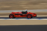 MONTEREY, CA - AUGUST 18:  Nick Mason races a 1934 Aston Martin Ulster 1495cc LM 17 in the Pre-1939 sports and touring car race during the Monterey Historic Automobile Races at the Mazda Raceway Laguna Seca on August 18, 2007 in Monterey, California.  (Photo by David Paul Morris)