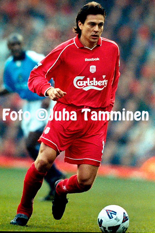 18.2.2001, Anfield Road, Liverpool, England. <br /> FA Cup, 5th round match, Liverpool FC v Manchester City FC. <br /> Jari Litmanen - LIverpool