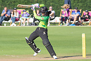Smriti Mandhana batting during the Women's Cricket Super League match between Loughborough Lightning and Western Storm at Haslegrave Ground, Loughborough, United Kingdom on 6 August 2019.
