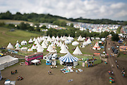 26.06.14 GLASTONBURY FESTIVAL, ENGLAND. Glastonbury Festival Tilt-Shift Feature - An interesting and unique view of last years festival through the eye of a tilt-shift lens. Rick Findler / Story Picture Agency