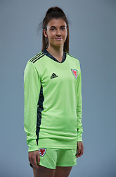 NEWPORT, WALES - Friday, November 8, 2019: Wales' goalkeeper Olivia Clarke during a photo shoot with the new 2019/20 Adidas home kit at Rodney Parade. (Pic by David Rawcliffe/Propaganda)