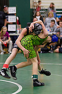 Slate Hill, New York - Wrestlers compete in a youth wrestling tournament at Minisink Valley Middle School  on Feb. 21, 2014.