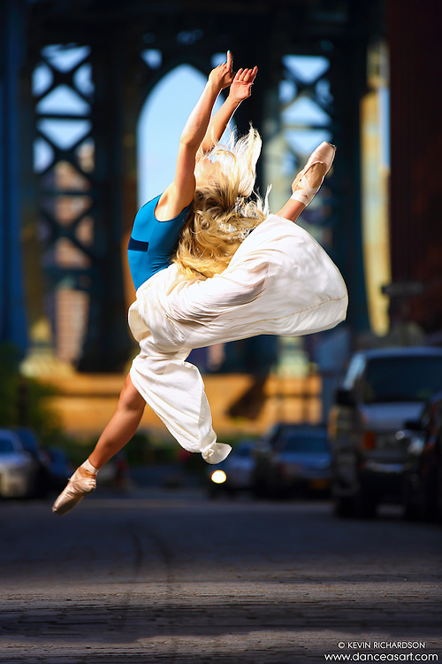 Grand Jete. Dance As Art Photography Project- Dumbo Brooklyn, New York with dancer, Mykaila Symes