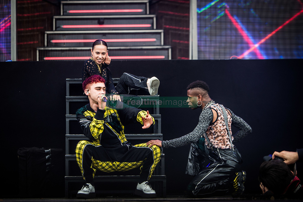 June 17, 2018 - Landgraaf, Limburg, Netherlands - Olly Alexander of Years & Years performing live at Pinkpop Festival 2018 in Landgraaf, Netherlands, on 17 June 2018. (Credit Image: © Roberto Finizio/NurPhoto via ZUMA Press)