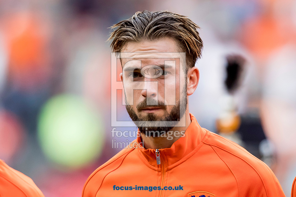 Davy Propper of Netherlands before the 2018 FIFA World Cup Qualifying match at Amsterdam Arena, Amsterdam<br /> Picture by Joep Joseph Leenen/Focus Images Ltd +316 5261929<br /> 03/09/2017<br /> ***NETHERLANDS OUT***