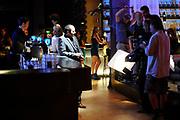 Setbezoek van de romantische komedie Valentino in Escape Amsterdam.<br /> <br /> Op de foto: <br />  Najib Amhali  op de set in Escape