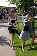 SARKA DARTON; JEANNIE BROOKE BARRETT, Glorious Goodwood. Ladies Day. 28 July 2011. <br /> <br />  , -DO NOT ARCHIVE-© Copyright Photograph by Dafydd Jones. 248 Clapham Rd. London SW9 0PZ. Tel 0207 820 0771. www.dafjones.com.
