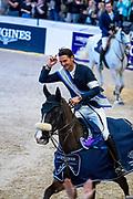 Steve Guerdat and Alamo winner of the World Cup Final<br /> FEI World Cup Final Gothenburg 2019<br /> © DigiShots