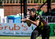 Somerset's Jamie Overton takes the catch to remove Gloucestershire's Ian Cockbain<br /> <br /> Photographer Simon King/Replay Images<br /> <br /> Vitality Blast T20 - Round 1 - Somerset v Gloucestershire - Friday 6th July 2018 - Cooper Associates County Ground - Taunton<br /> <br /> World Copyright © Replay Images . All rights reserved. info@replayimages.co.uk - http://replayimages.co.uk