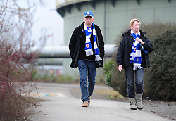 Reading Fans walk into the I pro stadium.  - Photo mandatory by-line: Alex James/JMP - Mobile: 07966 386802 - 14/02/2015 - SPORT - Football - Derby  - ipro stadium - Derby County v Reading - FA Cup - Fifth Round