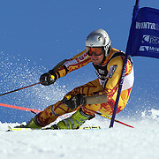 Sasha Zaitsoff, Canada, in action during the Men's Giant Slalom competition at Coronet Peak, New Zealand during the Winter Games. Queenstown, New Zealand, 22nd August 2011. Photo Tim Clayton