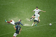 Antoine GRIEZMANN (FRA) missed the ball from Ousmane DEMBELE (FRA), Declan Rice (IRL), Harry ARTER (IRL), Adil RAMI (FRA) during the FIFA Friendly Game football match between France and Republic of Ireland on May 28, 2018 at Stade de France in Saint-Denis near Paris, France - Photo Stephane Allaman / ProSportsImages / DPPI