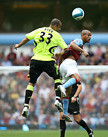 Photo: Rich Eaton.<br /> <br /> Aston Villa v Chelsea. The FA Barclays Premiership. 02/09/2007. Chelsea's Alex (l) challenges Villa's Luke Moore (r).