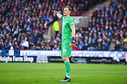Bernd Leno of Arsenal (19) in action during the Premier League match between Huddersfield Town and Arsenal at the John Smiths Stadium, Huddersfield, England on 9 February 2019.