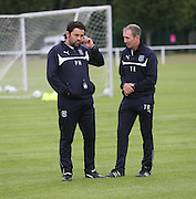 Dundee manager Paul Hartley and fitness coach Tom Ritchie - Dundee FC first day back<br />  - &copy; David Young<br /> <br />  - www.davidyoungphoto.co.uk - email: davidyoungphoto@gmail.com