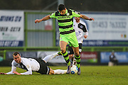 Forest Green Rovers Omar Bugiel(11) runs forward during the Vanarama National League match between Forest Green Rovers and Boreham Wood at the New Lawn, Forest Green, United Kingdom on 11 February 2017. Photo by Shane Healey.
