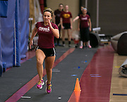 Alex Caldwell at track practice at St. John Fisher College on Friday, November 7, 2014.