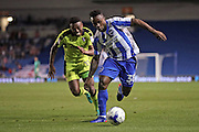 Brighton & Hove Albion's winger Kazenga LuaLua (30) breaks forward during the EFL Sky Bet Championship match between Brighton and Hove Albion and Rotherham United at the American Express Community Stadium, Brighton and Hove, England on 16 August 2016.