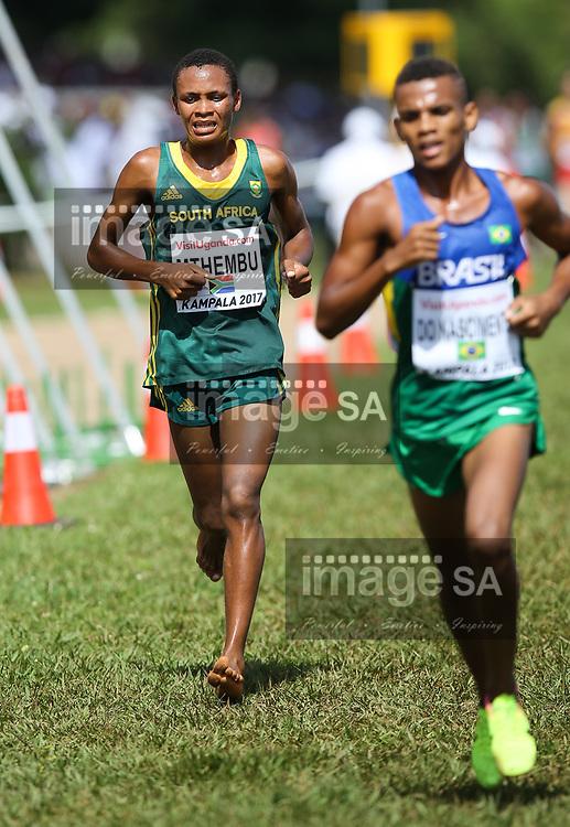 KAMPALA, UGANDA - MARCH 26: Pakiso Mthembu of South Africa during the U20 men race of the 2017 Kampala IAAF World Cross Country Championships on March 26, 2017 in Kampala, Uganda. (Photo by Roger Sedres/ImageSA)
